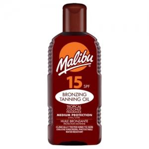 Ulei De Plaja Accelerator MALIBU Bronzing Tanning Oil Cu SPF15, 200 ml