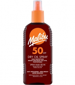 Ulei De Plaja Malibu Dry Oil Spray Cu SPF50, 200 ml