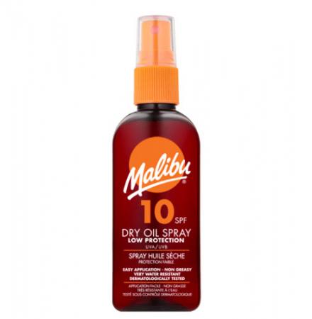 Ulei De Plaja MALIBU Dry Oil Spray cu Unt de Shea, UVA/UVB, SPF10, 200 ml