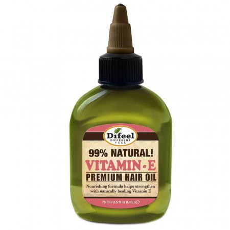 Ulei tratament premium pentru par Difeel 99% Natural cu Vitamina E, 75 ml