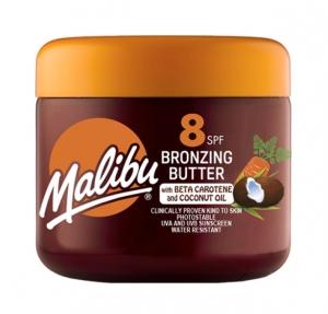 Unt De Corp Pentru Accelerarea Bronzului Malibu Cu Beta Caroten Si Ulei De Cocos SPF8, 300 ml
