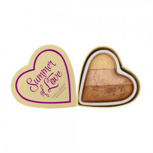 Blush Iluminator Makeup Revolution I Heart Makeup Blushing Hearts - Hot Summer Of Love, 10g0