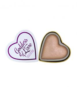 Iluminator Makeup Revolution I Heart Makeup Blushing Hearts Baked Highlighter - Goddess Of Faith, 10g