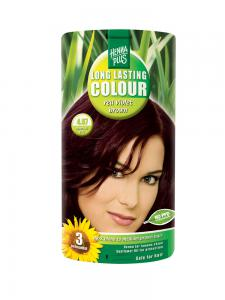 Vopsea de Par HennaPlus Long Lasting Colour - Red Violet Brown 4.67