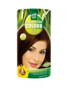 Vopsea de Par HennaPlus Long Lasting Colour - Warm Brown 4.45