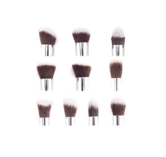Set de 10 Pensule Profesionale FRAULEIN38 Top Quality Kabuki - White-big