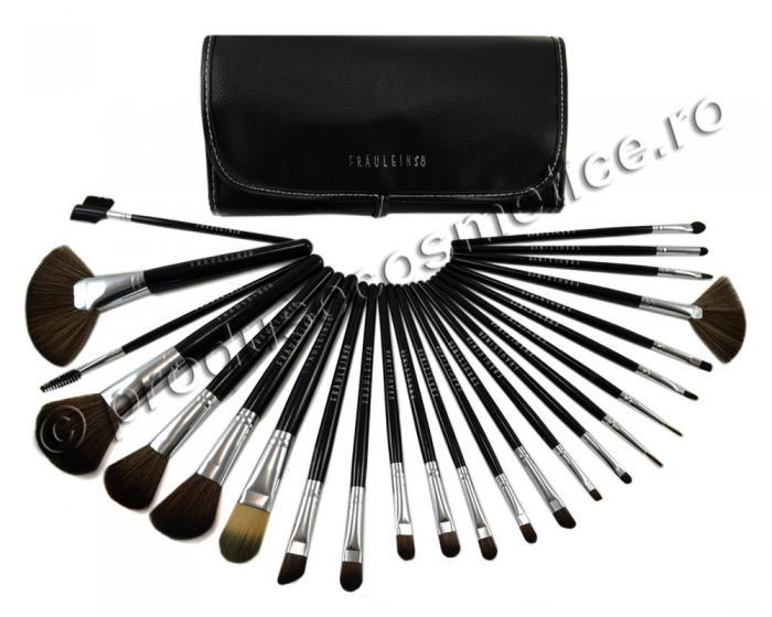 Set de 24 Pensule Profesionale Fraulein38 Studio Black-big