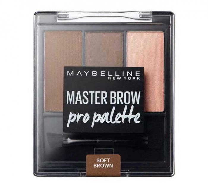 Kit pentru sprancene Maybelline New York Master Brow Pro Pallete - Soft Brown-big