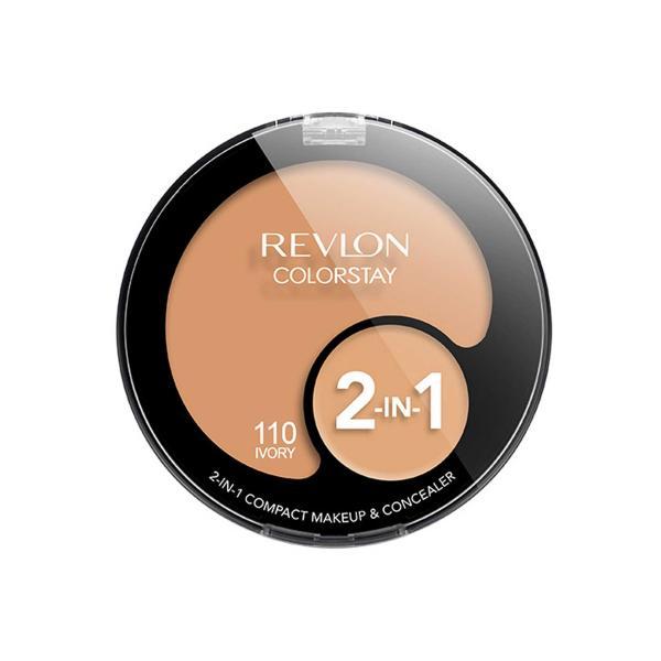 Kit cu Fond de Ten si Corector REVLON Colorstay 2 in 1 Compact Makeup 110 Ivory, 11g-big