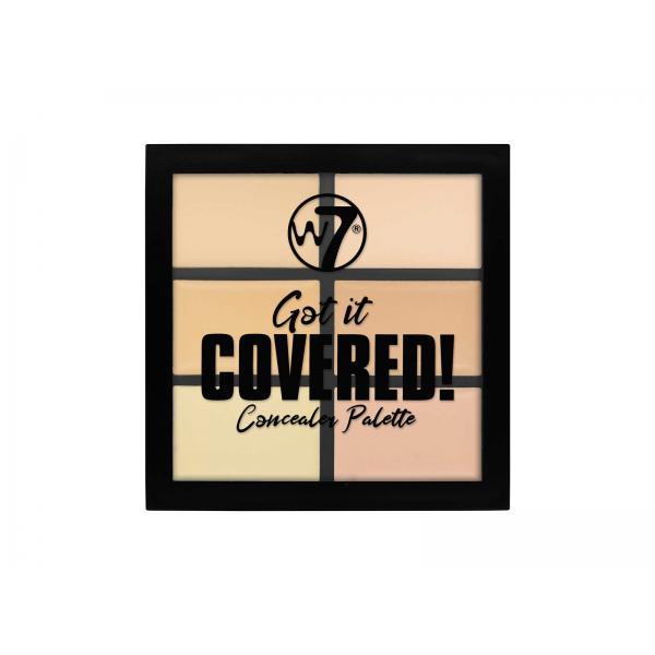 Paleta Anti-Cearcane cu 6 Corectoare Cremoase W7 Got It Covered Concealer Palette, 6g-big