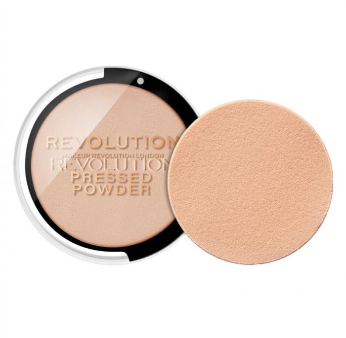 Pudra compacta MAKEUP REVOLUTION Pressed Powder - Porcelain Soft Pink, 7.5g-big