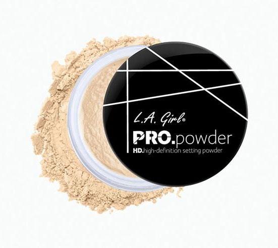 Pudra pulbere translucida pentru fixare L.A Girl HD PRO Setting Powder, Banana Yellow, 5 gr-big