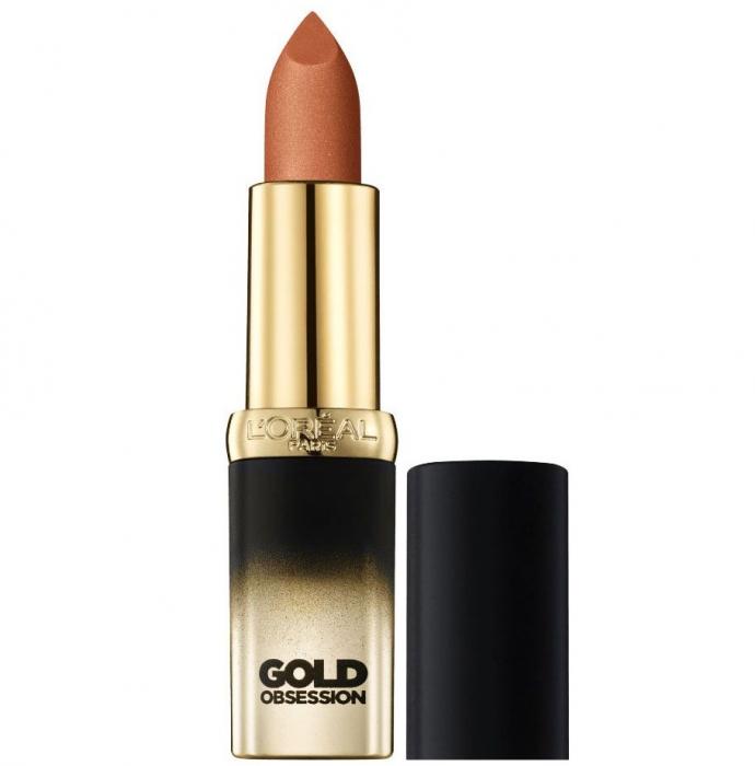 Ruj L'Oreal Color Riche Gold Obsession - Beige Gold-big