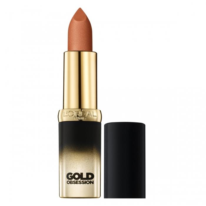 Ruj L'Oreal Color Riche Gold Obsession - Nude Gold-big