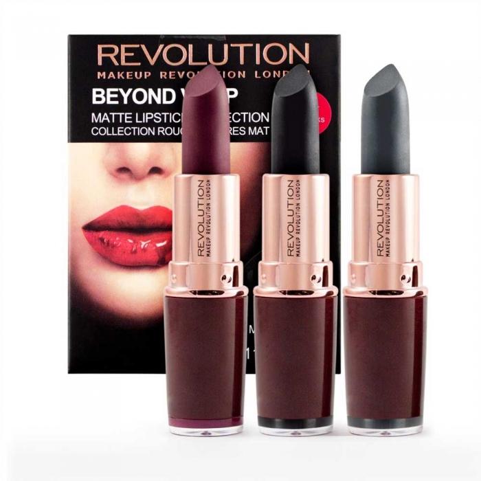 Set 3 Rujuri Makeup Revolution Beyond Vamp Matte Lipstick Collection-big