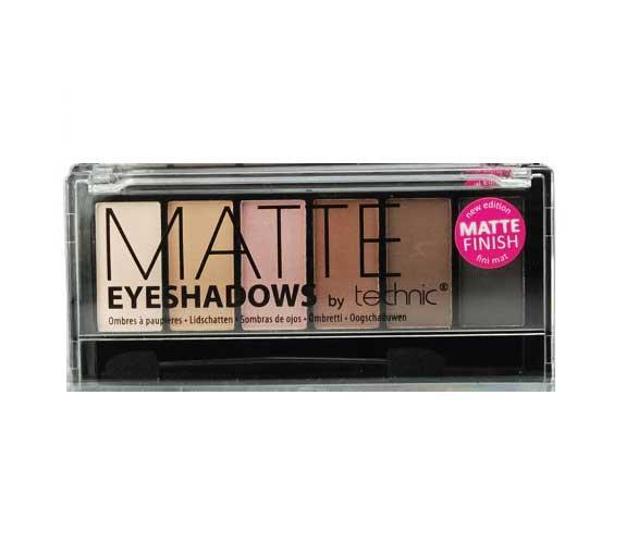 Trusa cu 6 Farduri Mate in Nuante Nude TECHNIC Matte Eyeshadows, 7.2g-big