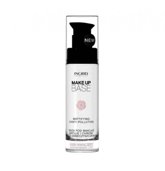 Baza de Machiaj Profesionala Matifianta si Protectoare cu Acid Hialuronic INGRID Make-up, 30ml-big