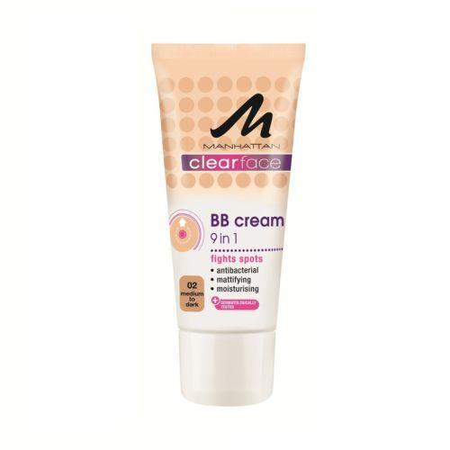 BB Cream 9 in 1 Manhattan Clear Face - 02 Medium To Dark-big