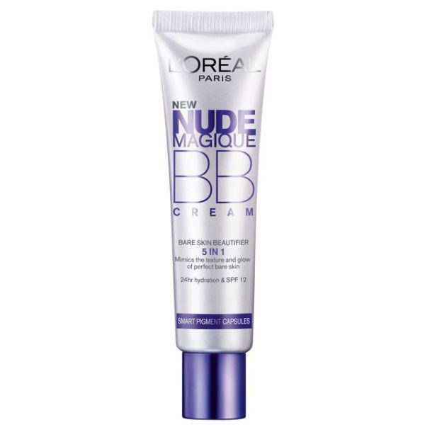 BB Cream L'OREAL Nude Magique 5 in 1 Ten Mediu cu micro-capsule cu pigmenti, 30ml-big