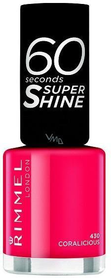Lac de Unghii Rimmel 60 Seconds Super Shine - 430 Coralicious-big