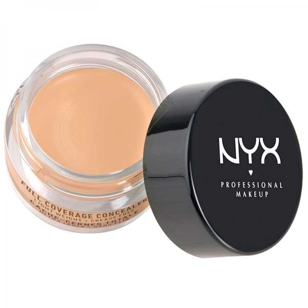Corector Nyx Professional Makeup Full Coverage Concelear Jar - Nude Beige, 7 gr-big