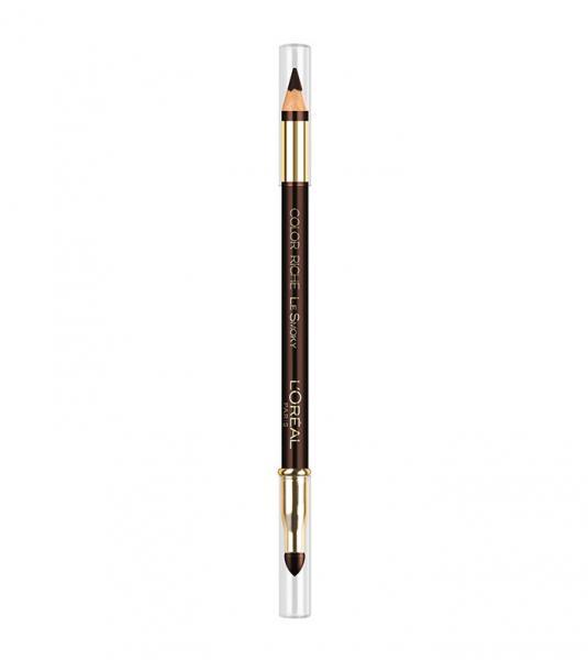 Creion de Ochi L'OREAL Color Riche Le Smoky - 204 Brown Fusion, (Maro Inchis Intens)-big