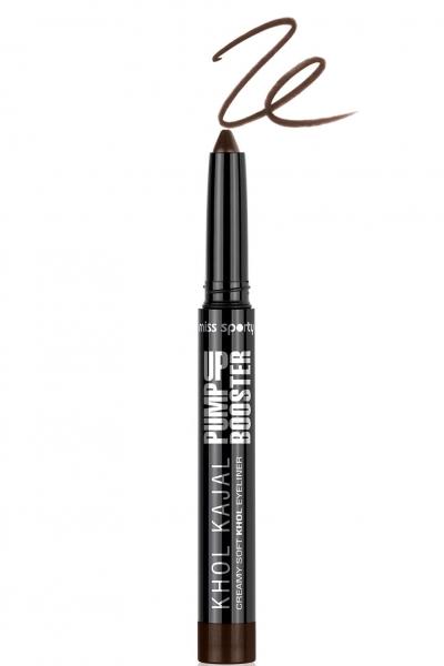 Creion De Ochi Retractabil Miss Sporty Pump Up Booster Khol Kajal - 002 Deep Brown-big