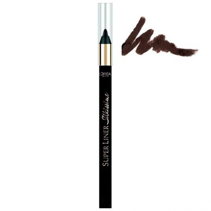 Creion de ochi L'Oreal Superliner Silkissime 24h Waterproof - 02 Brown Temptation-big