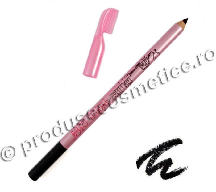 Creion de Sprancene Rezistent la transfer Menow cu pieptene - 01 Negru-big
