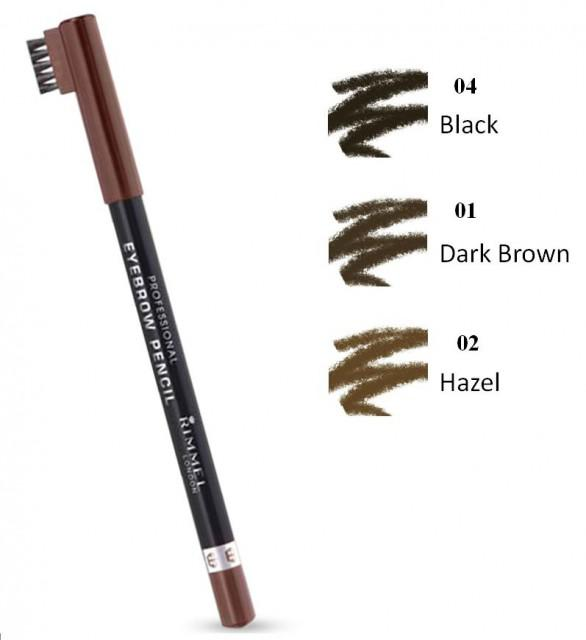 Creion de Sprancene Rimmel Professional - 004 Black Brown-big
