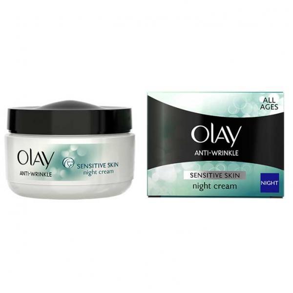 Crema de Noapte Antirid pentru Ten Sensibil OLAY Anti-Wrinkle Sensitive Skin, 50 ml-big
