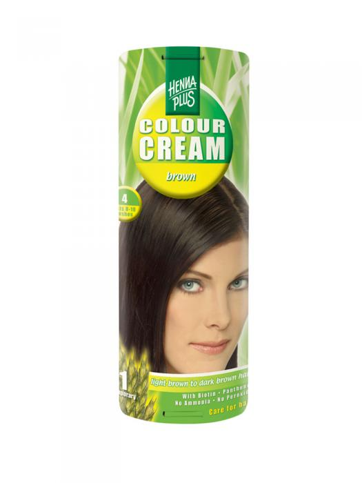 Crema Nuantatoare de Par HennaPlus Colour Cream - Brown 4-big