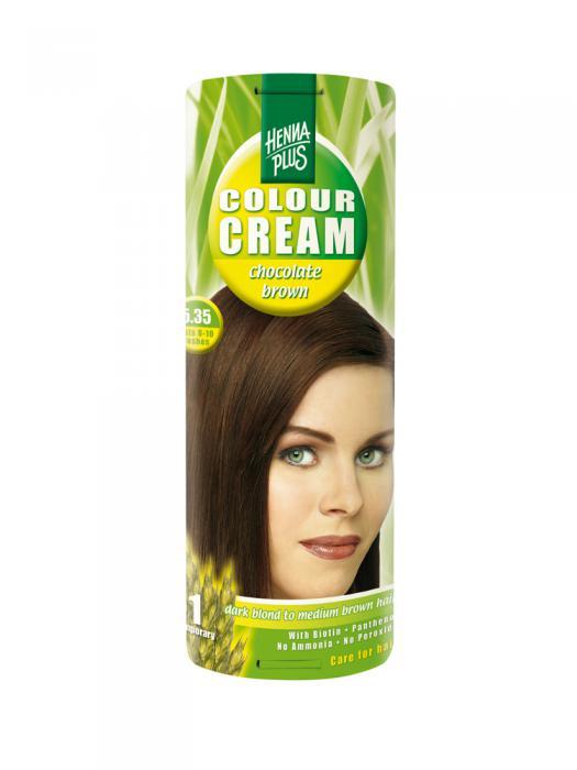 Crema Nuantatoare de Par HennaPlus Colour Cream - Chocolate Brown 5.35-big
