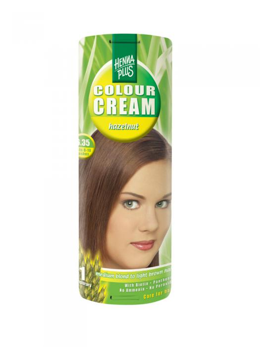 Crema Nuantatoare de Par HennaPlus Colour Cream - Hazelnut 6.35-big