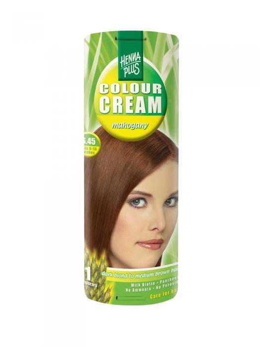 Crema Nuantatoare de Par HennaPlus Colour Cream - Mahogany 6.45-big