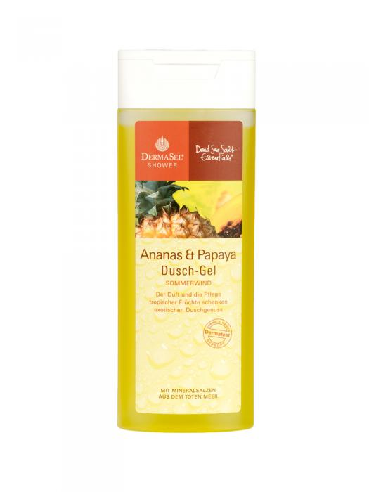 Gel de Dus DermaSel Shower cu Ananas si Papaya - 150 ml-big