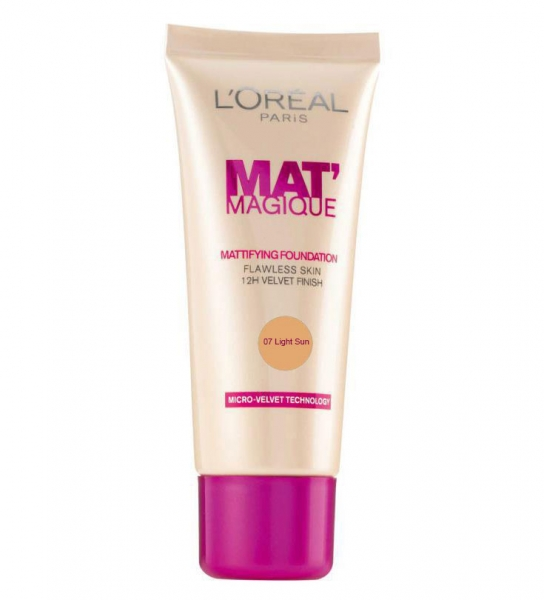 Fond De Ten L'OREAL Mat Magique Mattifying - 07 Light Sun, 25ml-big