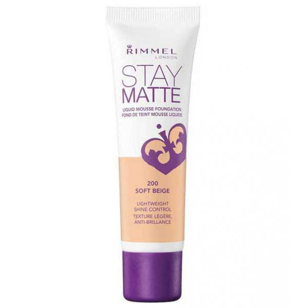 Fond De Ten Rimmel Stay Matte Liquid Mousse - 200 Soft Beige, 30 ml-big