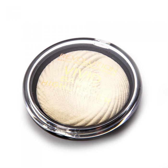 Iluminator MAKEUP REVOLUTION Vivid Baked Highlighter - Golden Lights, 7.5g-big