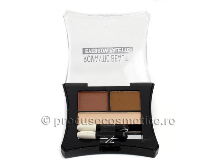 Kit de Sprancene Romantic Beauty cu 3 Pudre pentru Definire - 03 Light-big