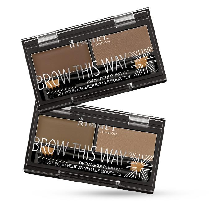 Kit de Sprancene Rimmel Brow This Way - 002 Medium Brown-big
