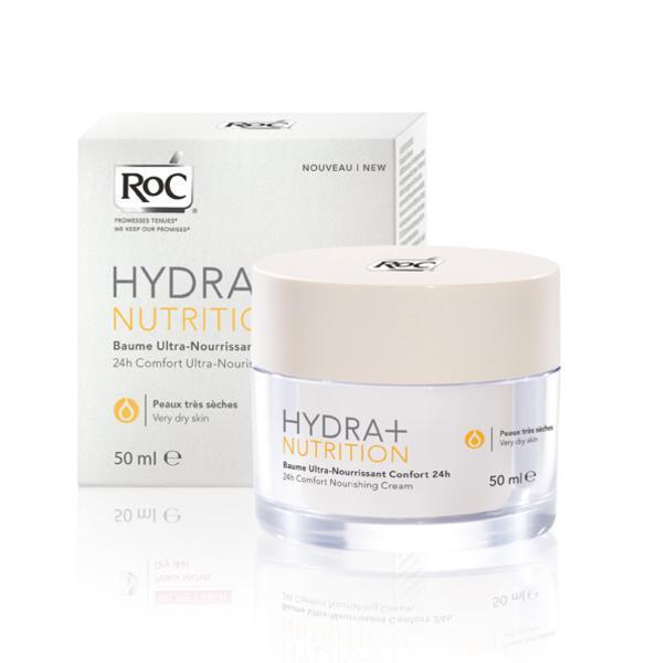 Balsam Nutritiv pentru ten uscat RoC Hydra+ Nutrition 24 ore, 50 ml-big