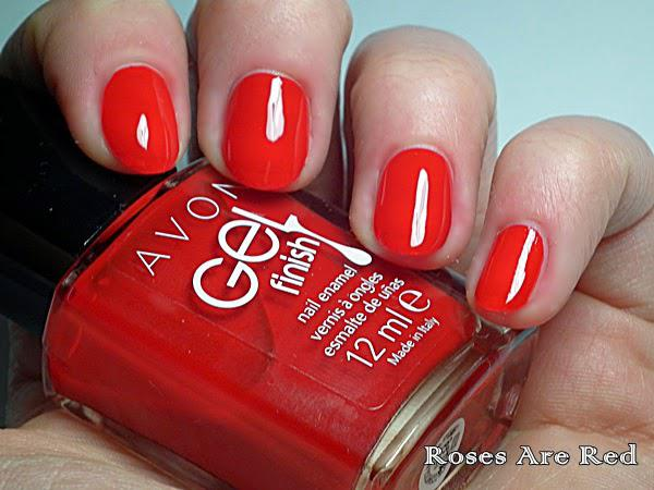 Lac de Unghii AVON Gel Finish 3 in 1 - Roses Are Red-big