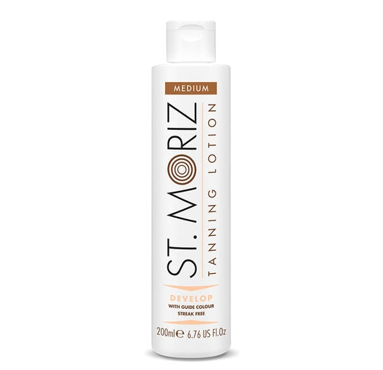 Lotiune Autobronzanta Profesionala ST MORIZ Tanning Lotion Develop - Medium, 200 ml-big