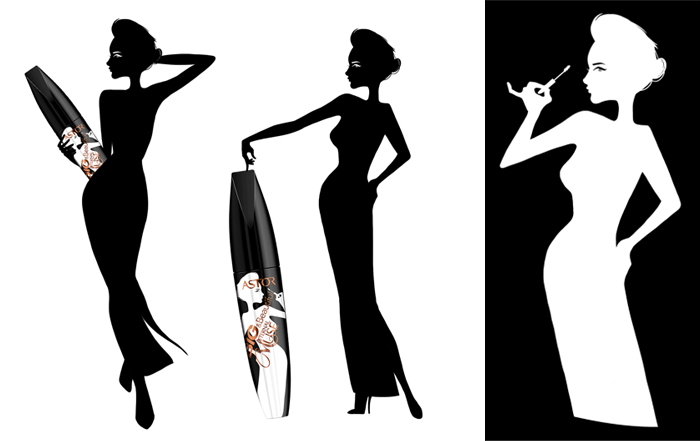 Rimel ASTOR Big & Beautiful ETERNAL MUSE Lash Sclupting Mascara- BLACK-big