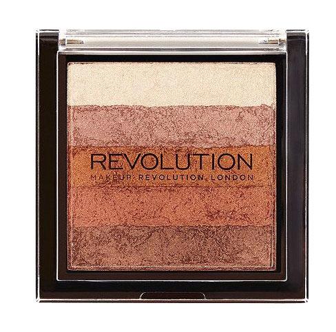 Paleta Iluminatoare Bronzanta MAKEUP REVOLUTION Shimmer Brick, Bronze Kiss, 7 gr-big