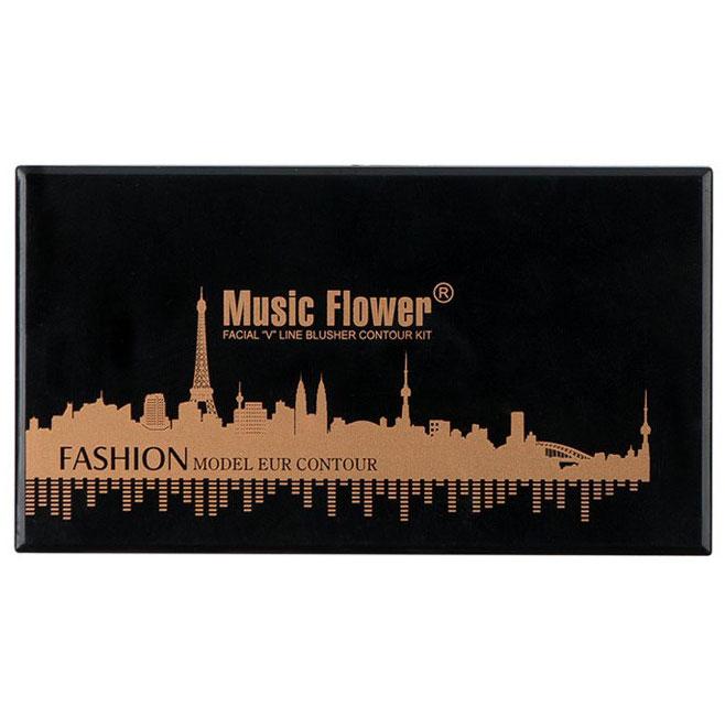 Paleta iluminatoare si conturare Music Flower Blusher Contour Kit-big