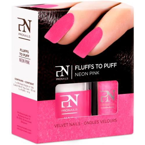Lac de Unghii PRONAILS cu Catifea Fluffs To Puff - Neon Pink-big