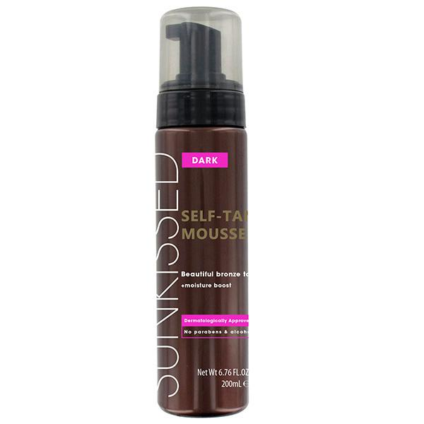Spuma Autobronzanta Profesionala Sunkissed Self-Tan Mousse Dark 200ml-big