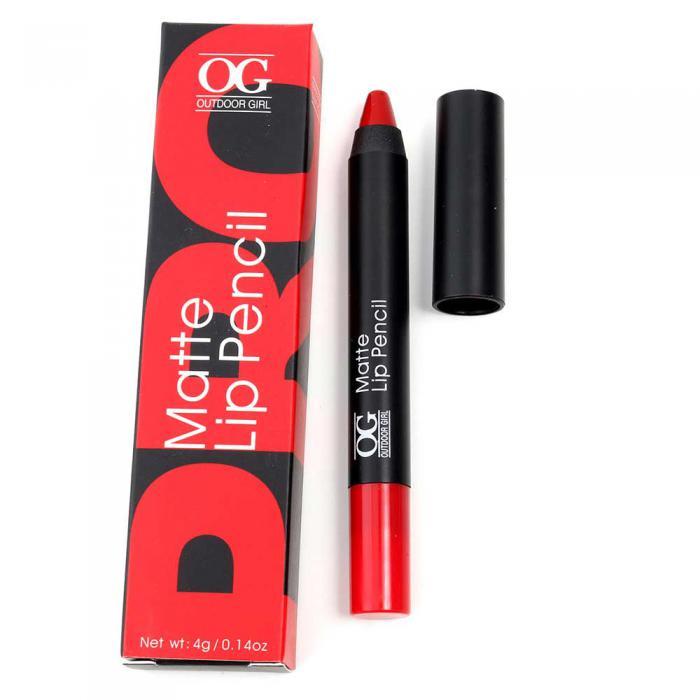 Ruj Creion Mat Outdoor Girl Matte Lip Pencil-607 Special Red-big